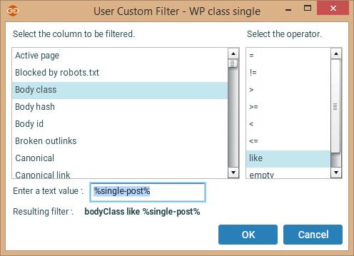Body class filter
