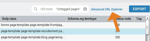 Advanced URL explorer
